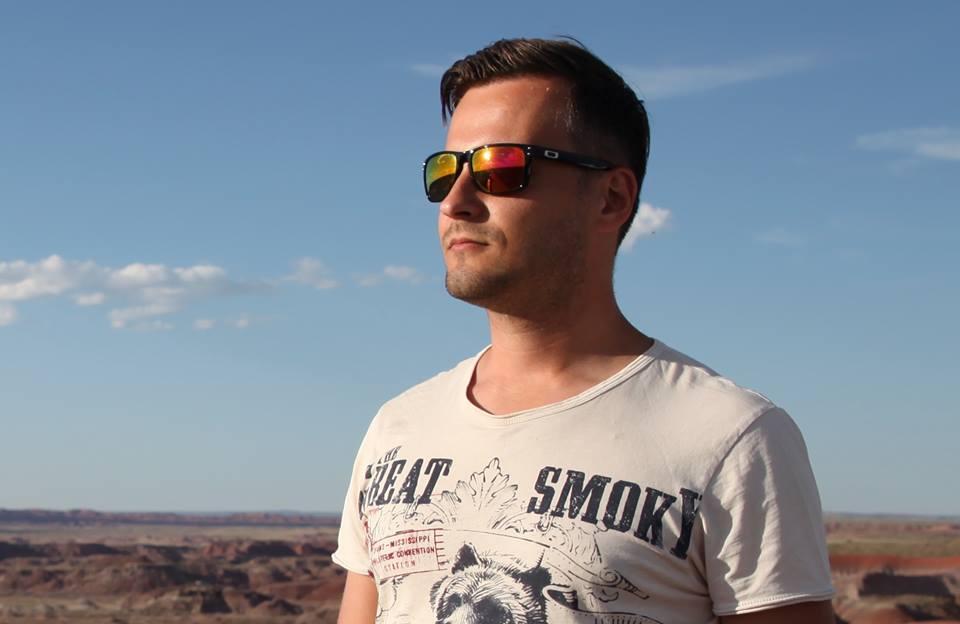 Michael Sender in the Painted Desert.
