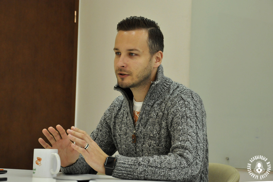 Michael Sender interviewed by BAJ (Belarusian Journalist Association).