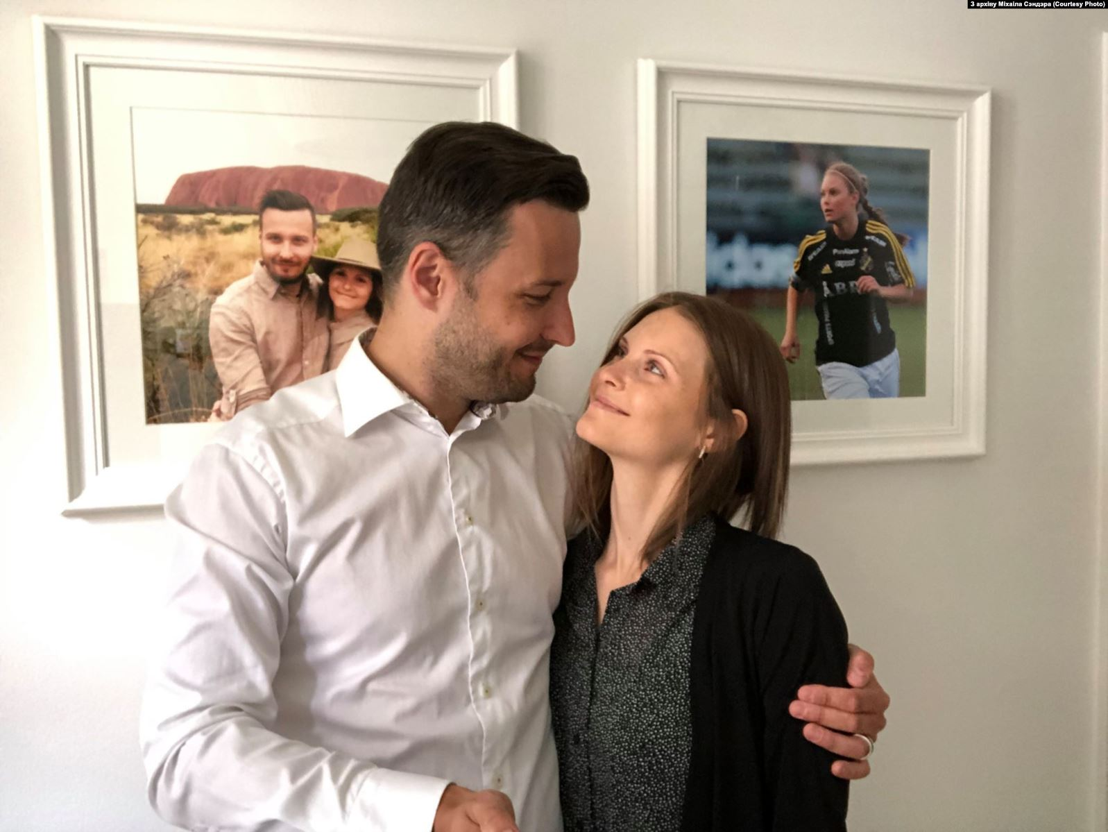 Michael Sender with Emelie Karlsson Wedin