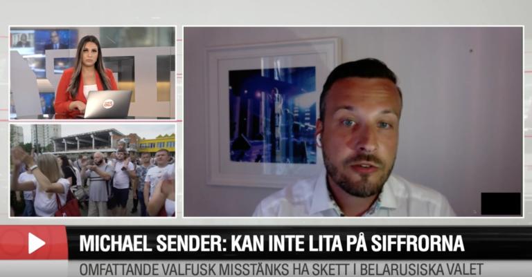 """Belarusiska debattören om valresultatet: """"Fullständig fiktion"""" // Aftonbladet TV"""