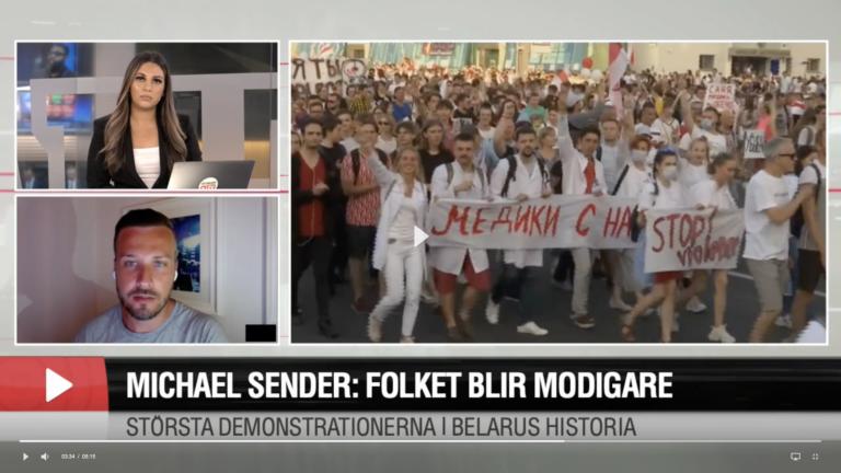 "Michael Sender: ""Folket blir modigare och modigare"" // Aftonbladet TV"