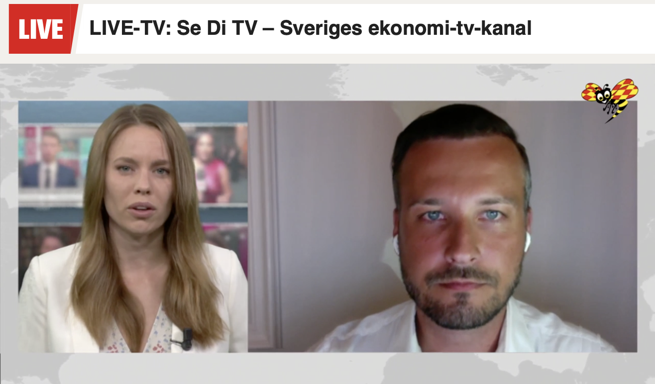 Michael Sender i Expressen TV