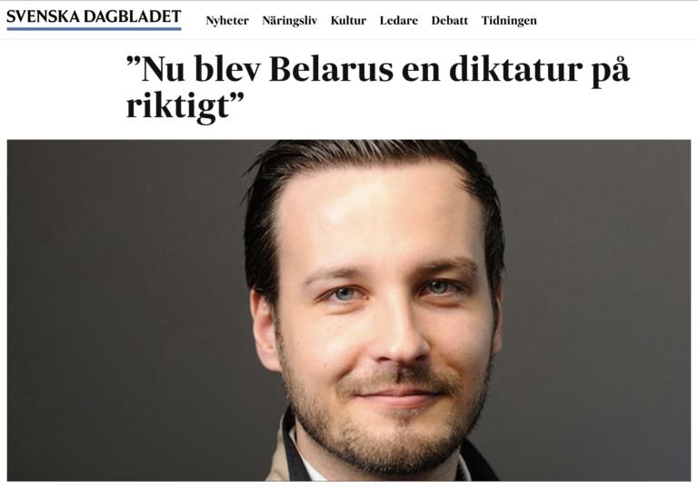 Nu blev Belarus en diktatur på riktigt // Svenska Dagbladet