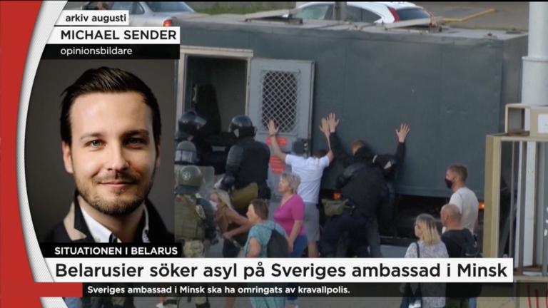 Sveriges ambassad i Minsk omringades av polis // TV4